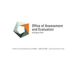 Developing Assessment and Evaluation Services at an Institution of Higher Education