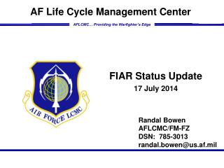 FIAR Status Update 17 July  2014