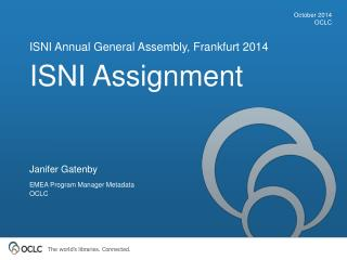 ISNI Assignment