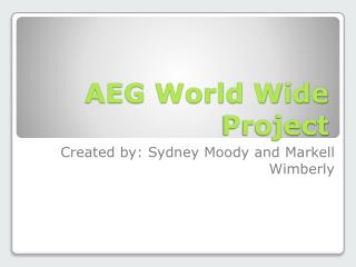 AEG World Wide Project