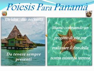Poiesis P ara  Panamà