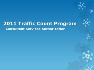 2011  Traffic Count Program