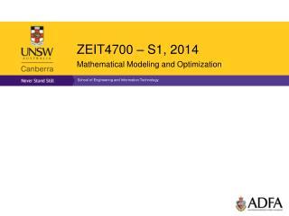 ZEIT4700 � S1, 2014