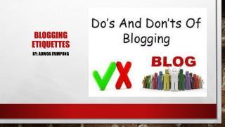 Blogging Etiquettes