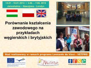 Porównanie kształcenia zawodowego na przykładach  węgierskich i brytyjskich