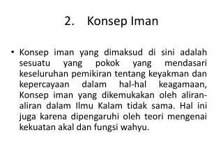 2. Konsep Iman