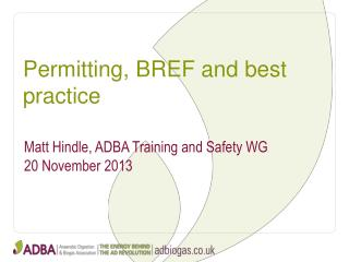 Permitting, BREF and best practice