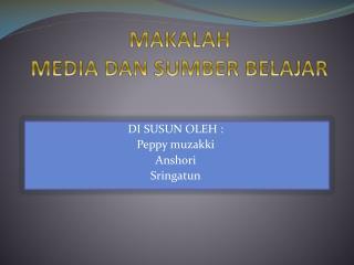 MAKALAH  MEDIA DAN SUMBER BELAJAR