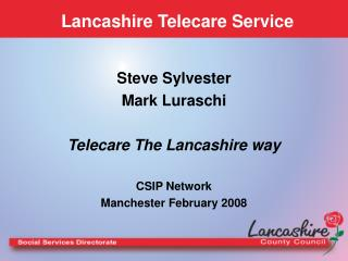 Lancashire Telecare Service