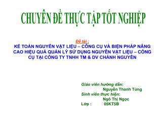 CHUY N   THC TP TT NGHIP