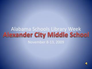 Alabama Schools Library Week