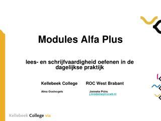 Modules Alfa Plus