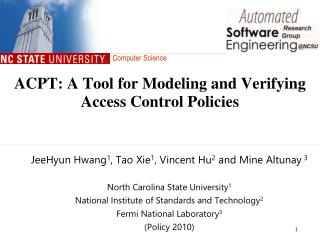 ACPT : A Tool for Modeling and Verifying Access Control Policies