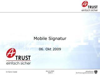 Mobile Signatur