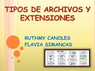TIPOS DE ARCHIVOS Y EXTENSIONES