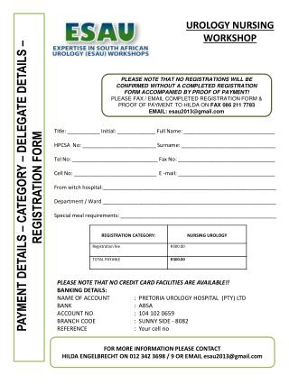 PAYMENT  DETAILS – CATEGORY – DELEGATE DETAILS – REGISTRATION FORM