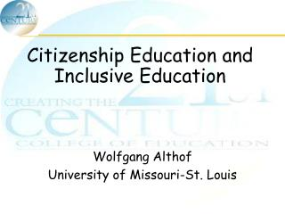 Citizenship Education and Inclusive Education
