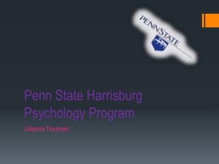 Penn State Harrisburg  Psychology Program
