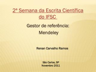 Gestor de refer�ncia: Mendeley