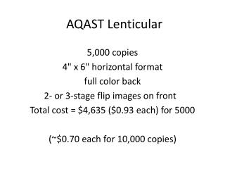 AQAST  Lenticular