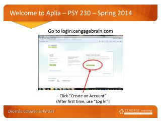 Welcome to Aplia – PSY 230 – Spring 2014