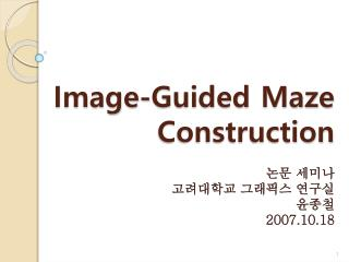 Image-Guided Maze Construction