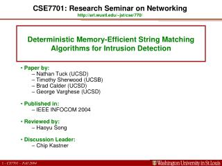 Deterministic Memory-Efficient String Matching Algorithms for Intrusion Detection