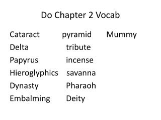 Do Chapter 2 Vocab