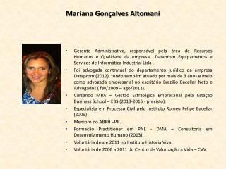 Mariana Gonçalves Altomani