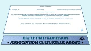 Bulletin d'adhésion «  Association culturelle aboud  »