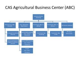 CAS Agricultural Business Center (ABC)