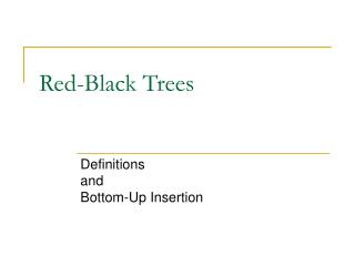 Red-Black Trees