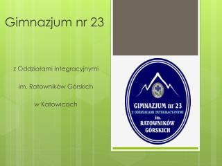 Gimnazjum nr 23