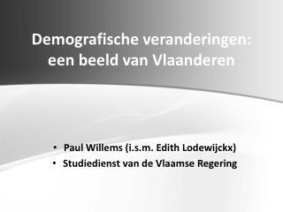 Demografische veranderingen: een beeld van Vlaanderen