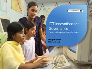 ICT Innovations for Governance Focus on Knowledge-Based Inclusion