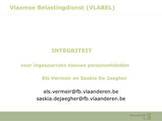 Vlaamse Belastingdienst (VLABEL)