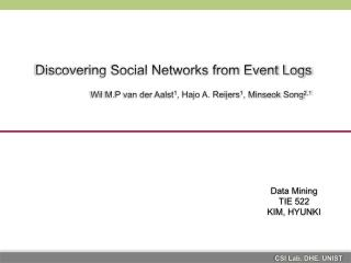 Discovering Social Networks from Event Logs