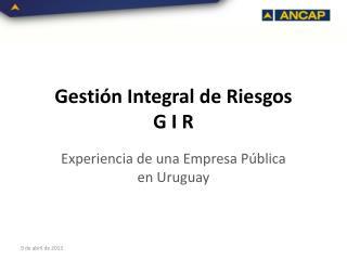 Gestión Integral de Riesgos G I R
