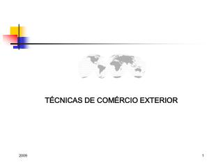 T CNICAS DE COM RCIO EXTERIOR