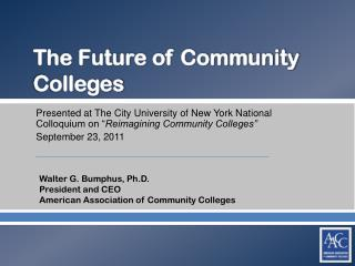 The Future of Community Colleges