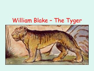 William Blake   The Tyger