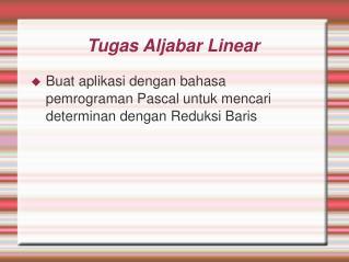 Tugas Aljabar Linear