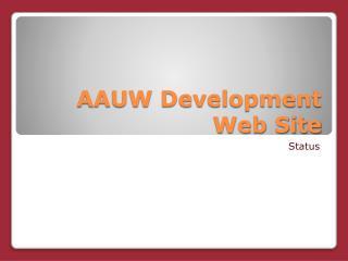 AAUW Development Web Site