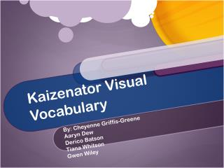 Kaizenator Visual Vocabulary