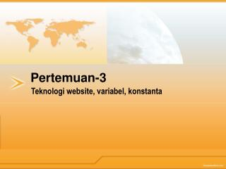 Teknologi website ,  variabel ,  konstanta