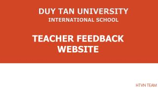 TEACHER FEEDBACK WEBSITE