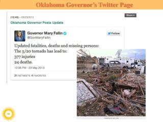 Oklahoma Governor's Twitter Page