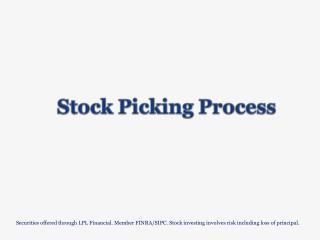 Stock Picking Process