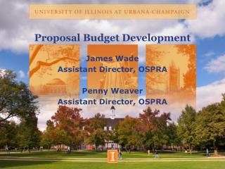 Proposal Budget Development