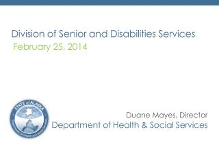 Division of Senior and Disabilities Services